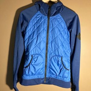 The North Face blue navy hooded jacket